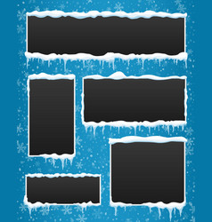 creative of icicle winter vector image vector image