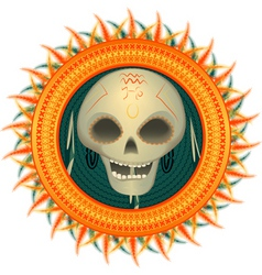 skull of the savage vector image vector image