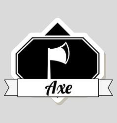 axe design vector image