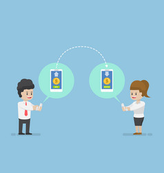 business people sending and receiving money vector image