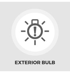 Exterior bulb failure flat icon vector image
