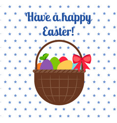 happy easter white greeting card vector image vector image