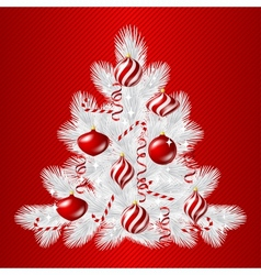 Merry Christmas background with tree and glossy vector image vector image