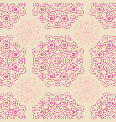 seamless doodle pattern ethnic ornament hand vector image