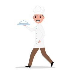 cartoon funny chef cook man vector image vector image