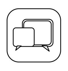 figure symbol square chat bubbles icon vector image vector image