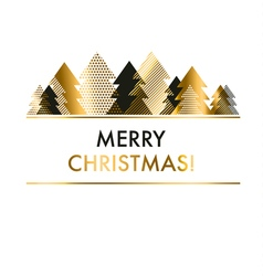luxury style black and gold Christmas card vector image
