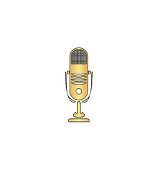music microphone computer symbol vector image vector image