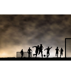 soccer game vector image vector image