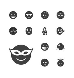 13 cheerful icons vector