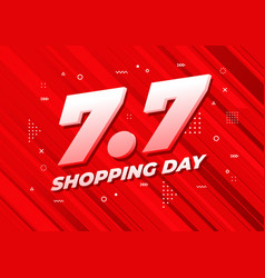 7 july shopping day sale poster vector image
