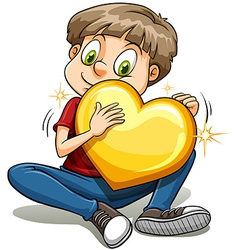 A boy with a heart of gold vector