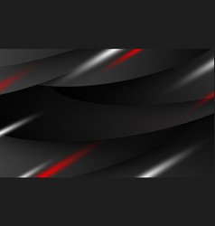 abstract black banner background design vector image