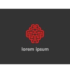 Abstract brain logo generate idea design template vector