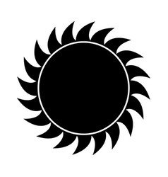 abstract sun shape vector image