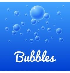 Aqua sea bubbles set of bubbles vector image