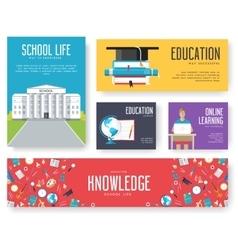 Back to school set cards design vector