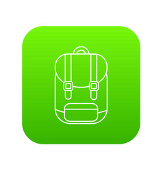 backpack icon green vector image