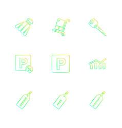 Badminton cart key paypal shares graph tag vector