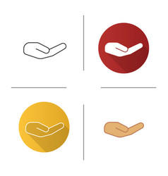 begging hand gesture icon vector image