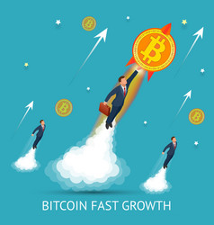 bitcoin is fast growing digital currency vector image