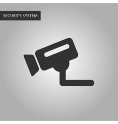 Black and white style security camera vector