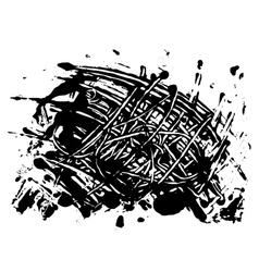 Blot spot of black paint vector