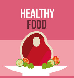 boy and girl healthy good habits vector image