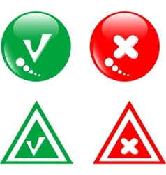 button green accept and red reject vector image