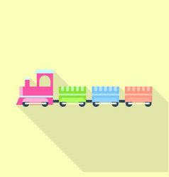 children train toy icon flat style vector image
