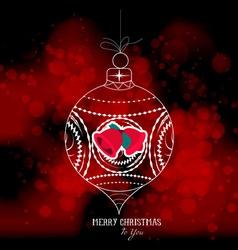 Christmas ball light background vector