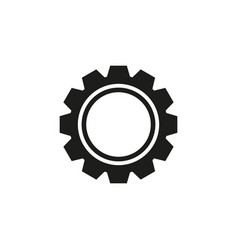 cogwheel with circle icon vector image
