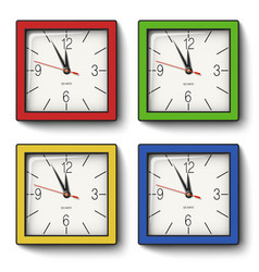 Collection of square wall clocks vector
