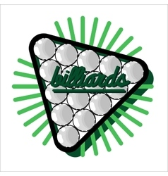 Color vintage billiard emblems vector image