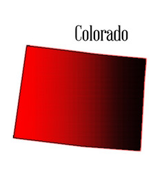 colorado map halftone vector image