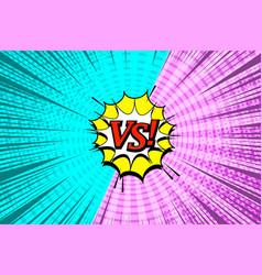 Comic vs wording template vector