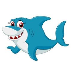 Comical shark character vector