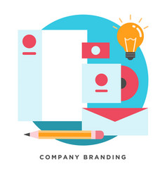 company branding concepts vector image