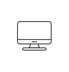computer monitor icon flat pc symbol eps10 vector image