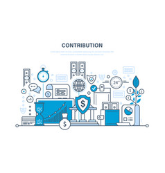 Contribution investment deposits payments vector