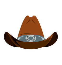 cowboy hat isolated vector image