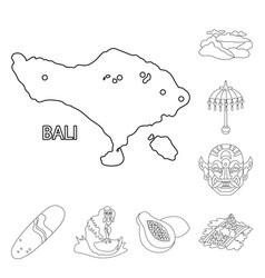 Design balinese and caribbean logo set vector