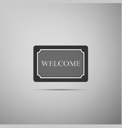 Doormat with the text welcome welcome mat sign vector