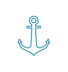 double-fluked anchor linear icon concept double vector image
