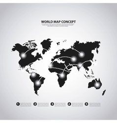 Earth icon World and Map design graphic vector