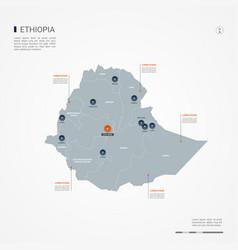 ethiopia infographic map vector image