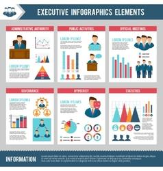 Executive Infographics Set vector