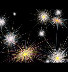 fireworks new year vector image