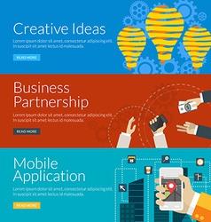 Flat design concept for creative ideas business vector