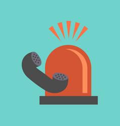 Flat icon on stylish background phone alarm lamp vector